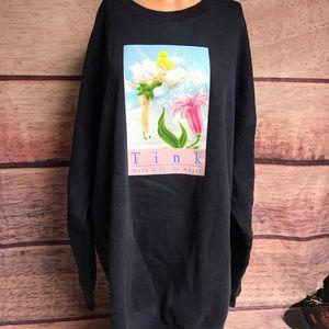 Woman's xxl vintage tinker bell sweatshirt